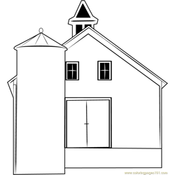 Tithe Barn coloring page