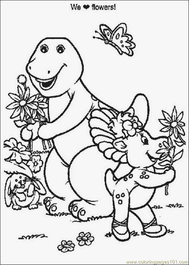 barney 00 coloring page - free barney coloring pages ... - Barney Dinosaur Coloring Pages