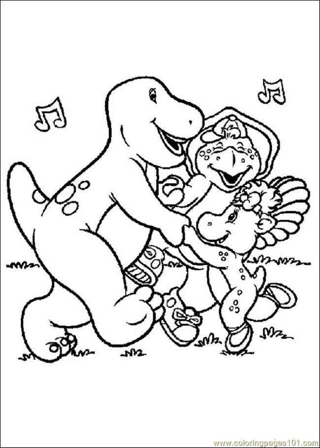 Barney Coloring Pages Pdf : Barney coloring page free pages