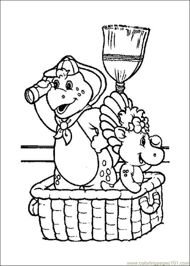 Barney 07 Coloring Page