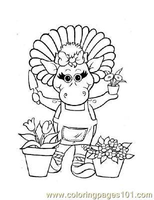 Barney 2 Coloring Page Free Barney Coloring Pages