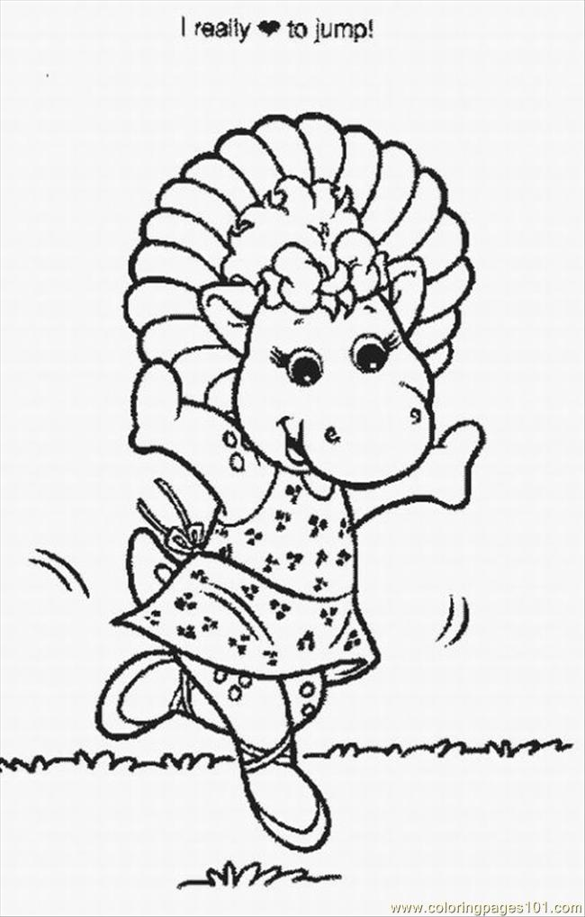 Barney Coloring Pages 4 Lrg