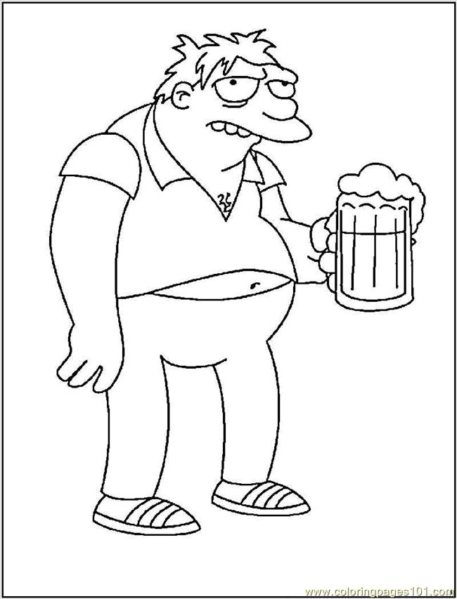 Barney Coloring Pages Pdf : Barney gumble coloring page free pages