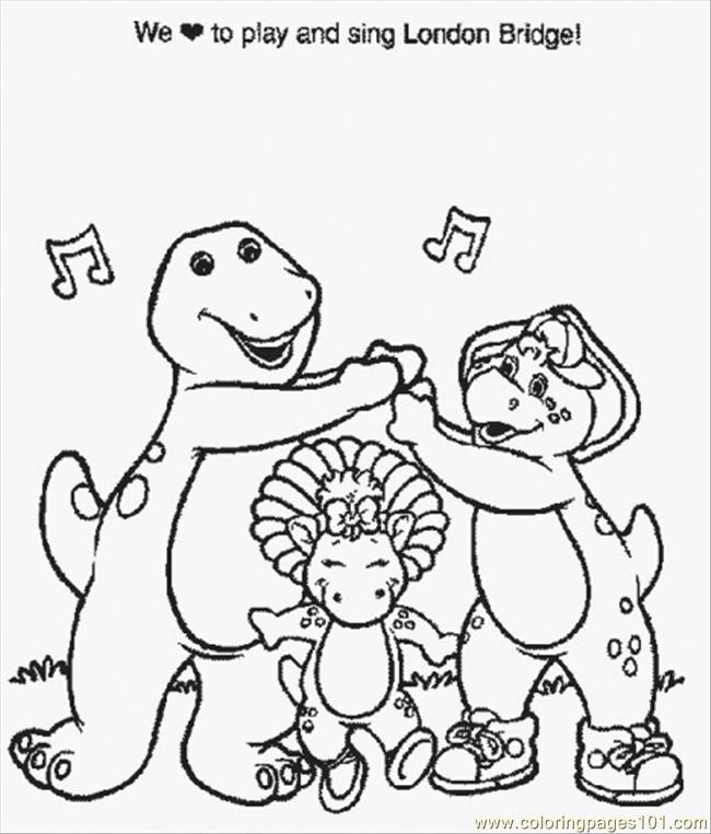 Normal Barney (7) Coloring Page