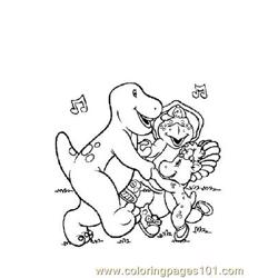 Barney 1 Free Coloring Page for Kids