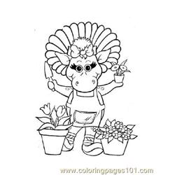 Barney 2 Free Coloring Page for Kids
