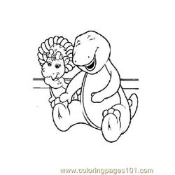 Barney 5 coloring page