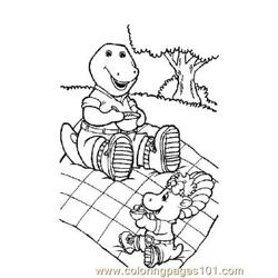Barney 6 Free Coloring Page for Kids