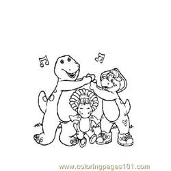 Barney 9 Free Coloring Page for Kids