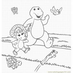Barney Coloring Pages Lrg