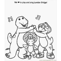 Normal Barney (7) Free Coloring Page for Kids