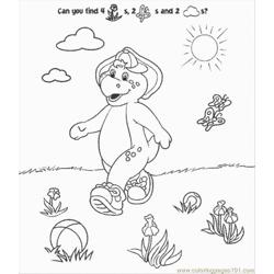 Normal Barney Free Coloring Page for Kids