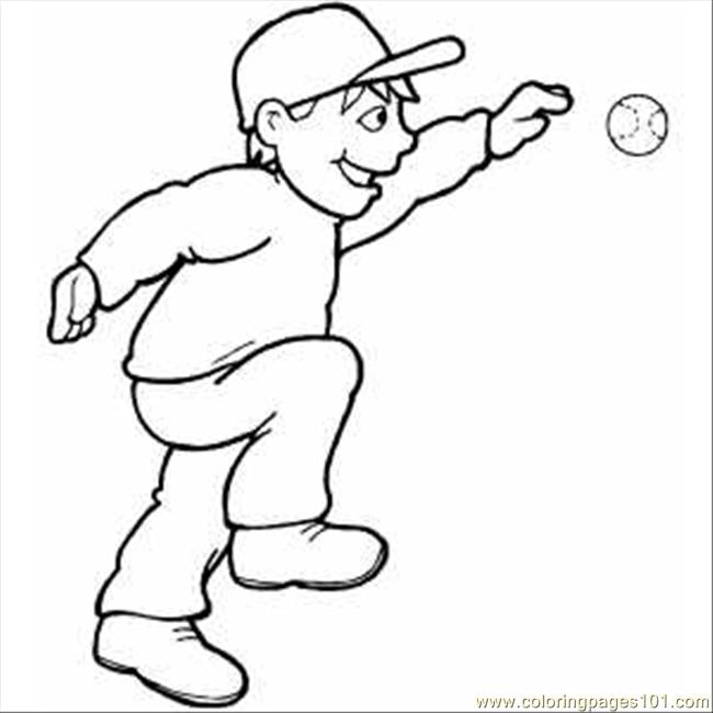 Smiling Baseball Player Coloring Page Free Baseball Coloring Pages