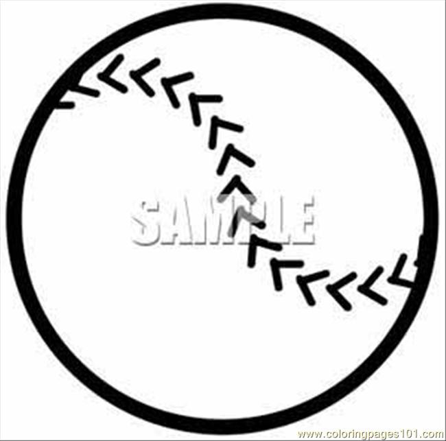 Aseball Outline Clipart Image Coloring Page
