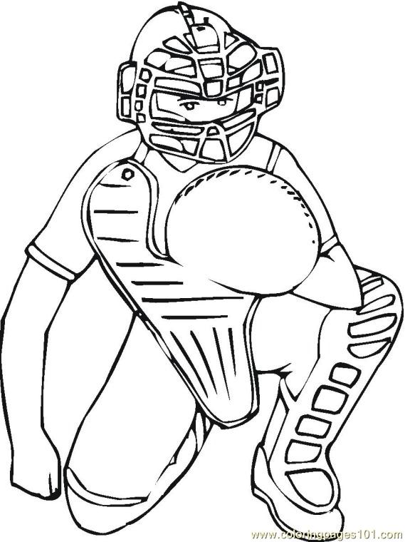 Baseball 3 Coloring Pages 7 Com Page