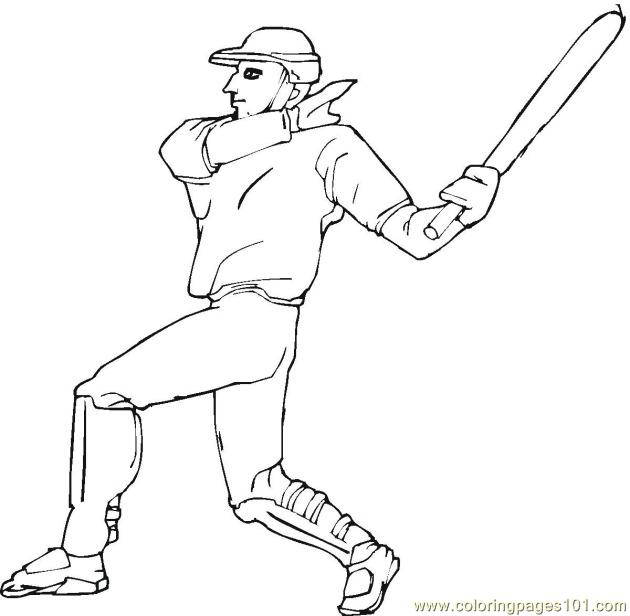 Baseball Player Coloring Pages 7 Com Page