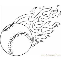 A Baseball With Flames Step 4