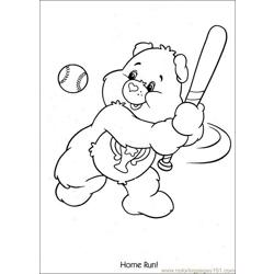 Baseball Home Run Coloring Pages 7 Com