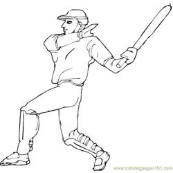 Baseball Player Coloring Pages 7 Com