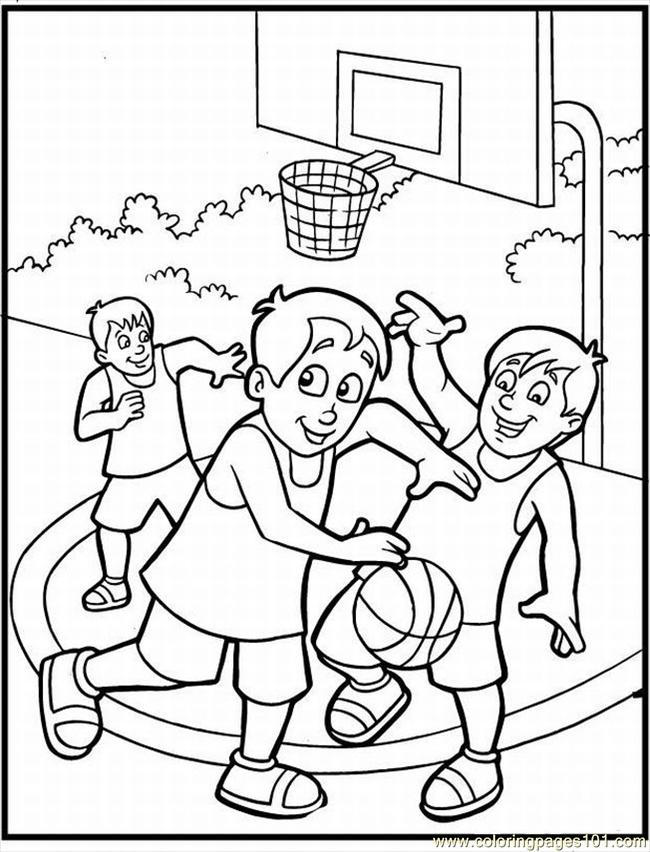 20 Sketball Coloring Pages 3 Lrg Coloring Page