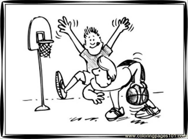 85 Basketball Coloring Pages 1 Coloring Page