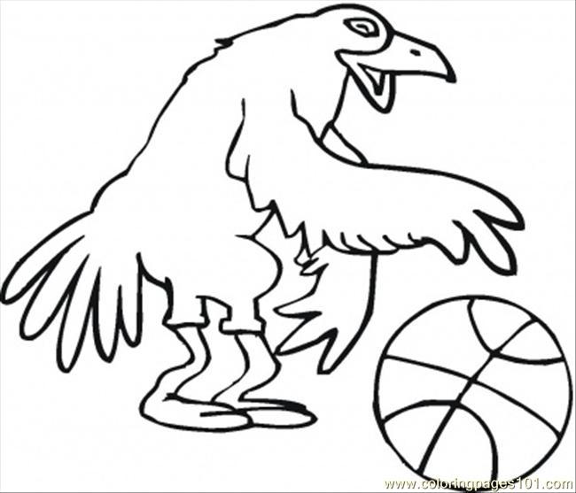 Bird Basketballer Coloring Page
