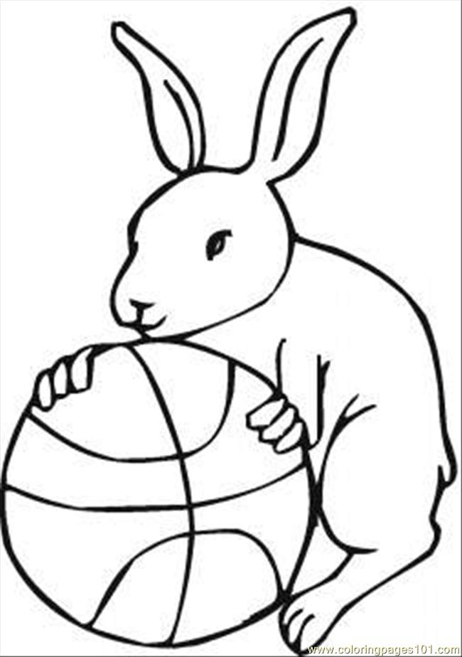 Ds A Basketball Coloring Page