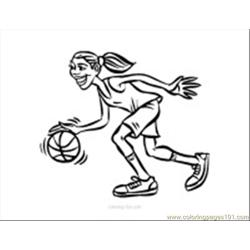 3 Basketball Coloring Page 10