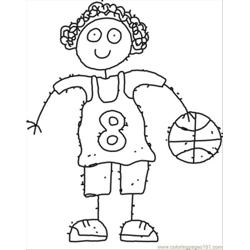 87 Ll Girl Cartoon Coloring Page