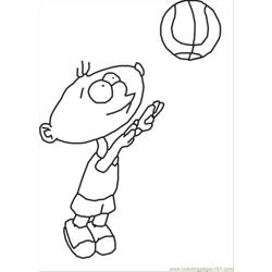 88 All Playing Boy Coloring Page
