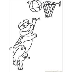 89 Ll Playing Frog Coloring Page