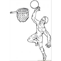 95 Basketball Coloring Page