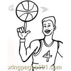 Basketball Coloring Pages 04