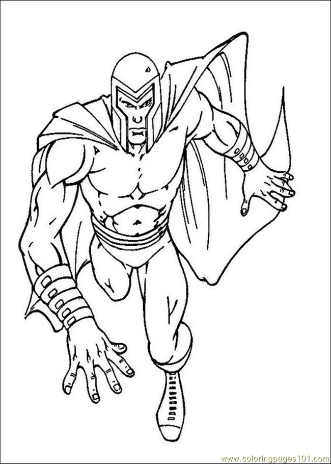 coloring book pages x man - photo#49