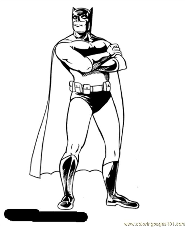 Batman 2 Coloring Page