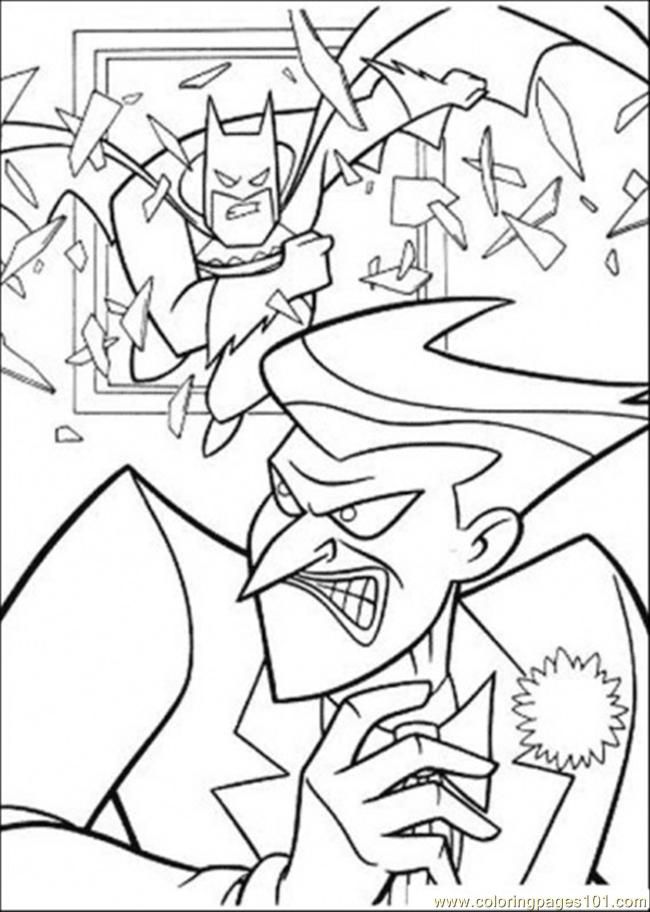 Batman Is Breaking The Window Coloring Page
