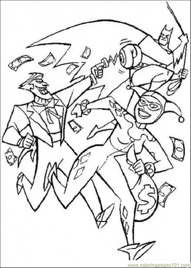 Batman Will Catch His Enemy Coloring Page