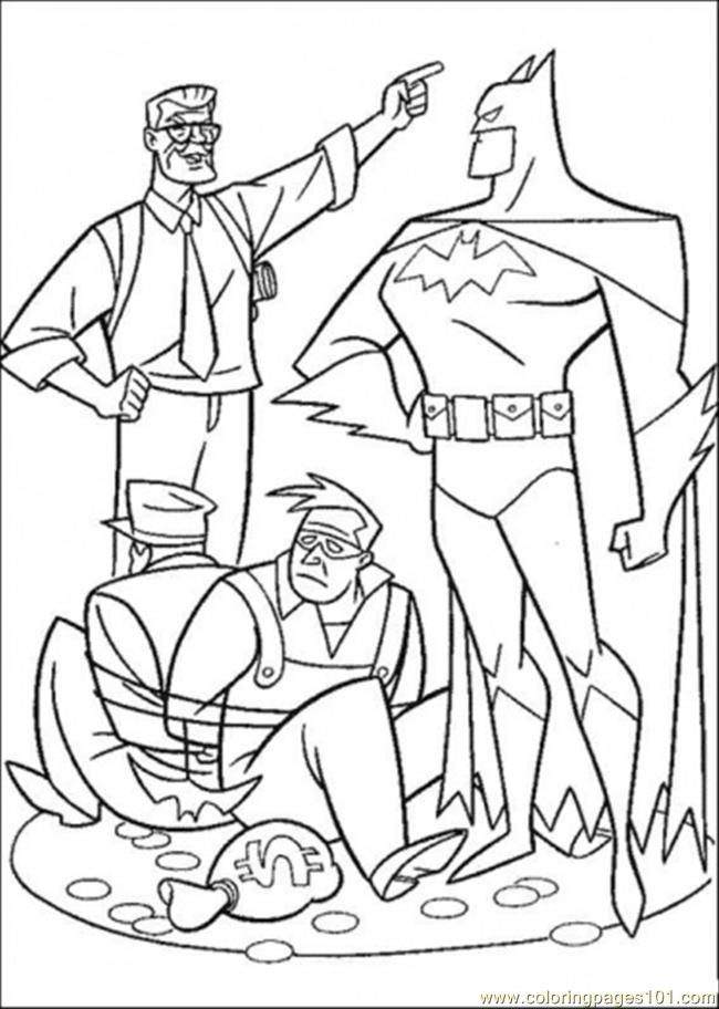 Catch The Thief Coloring Page