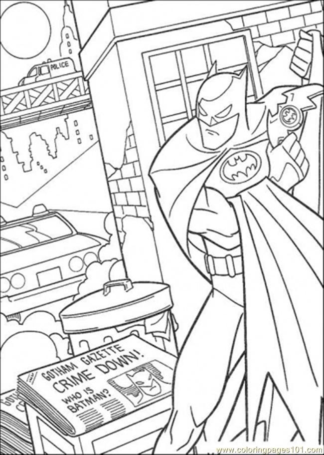 Gothams Crime Down Coloring Page