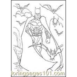 Bat Man coloring page