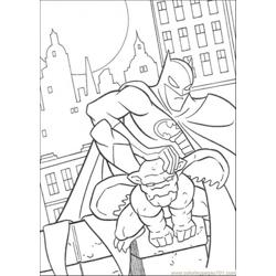 Batman Hold The Statue Free Coloring Page for Kids