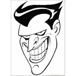 Face Of Joker Free Coloring Page for Kids