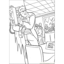 Taking Batmans Costume Free Coloring Page for Kids