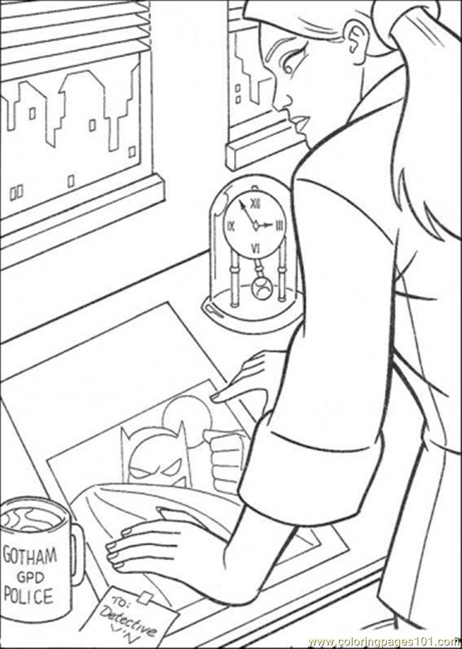 To Detective Coloring Page