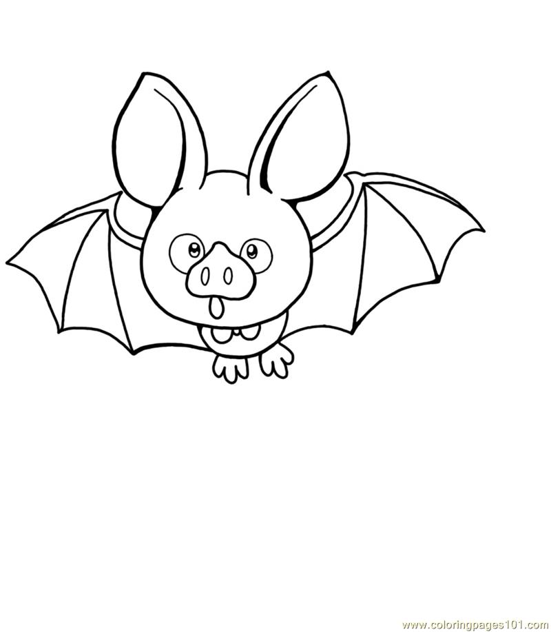 Bats Open Eyes Coloring Page
