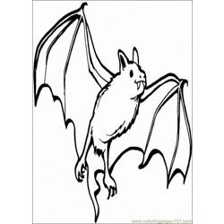 Bats Coloring Pages 013