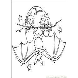 Bats Coloring Pages 020