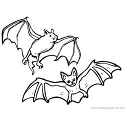 Bats Enjoy With Happy Flying Free Coloring Page for Kids