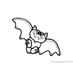 Bats Sweet  Flying Free Coloring Page for Kids