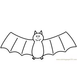 happy Bats Free Coloring Page for Kids